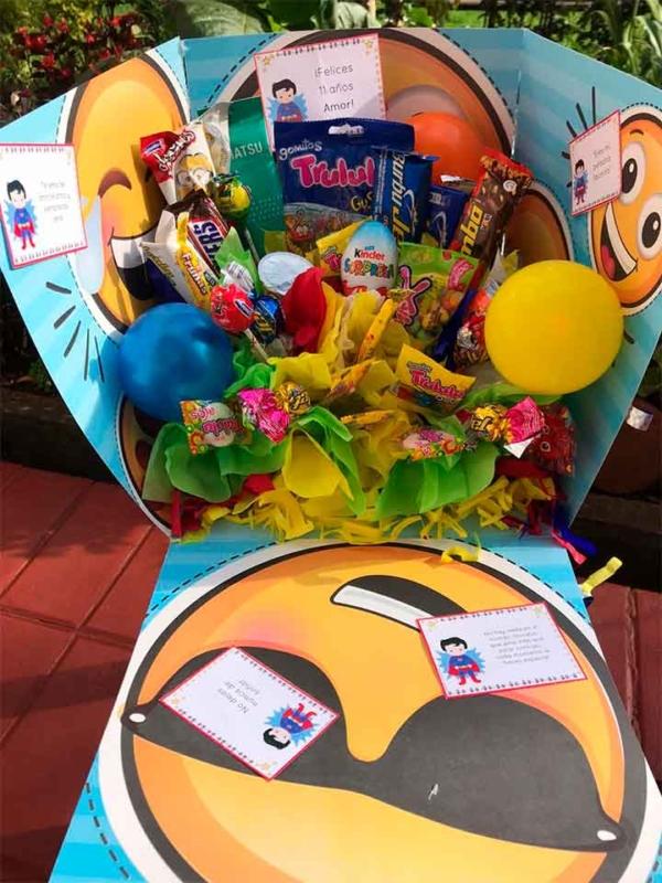 caja de sorpresa cumpleaños